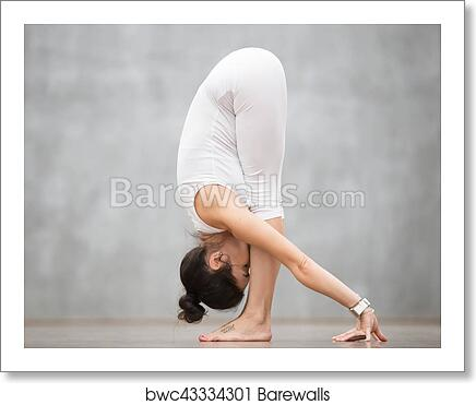 Beautiful Yoga Uttanasana Pose Art Print Barewalls Posters Prints Bwc43334301