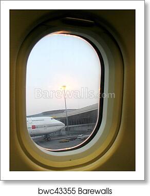 Airplane Window Art Print Barewalls Posters Prints Bwc43355