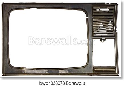 Art Print of Old dirty frame of broken TV | Barewalls Posters ...