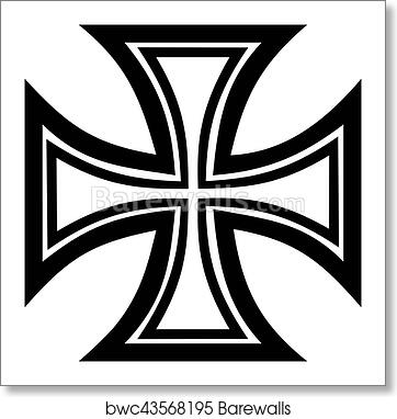 Iron Cross Outline Art Print Barewalls Posters Prints Bwc43568195 Search more hd transparent cross outline image on kindpng. iron cross outline art print poster