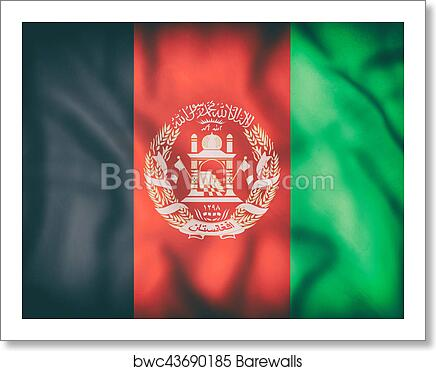 Afghanistan Flag Art Print Barewalls Posters Prints Bwc43690185
