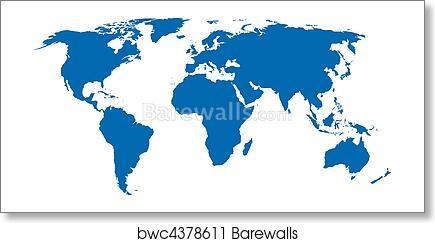Art print of vector world map barewalls posters prints bwc4378611 art print of vector world map gumiabroncs Gallery