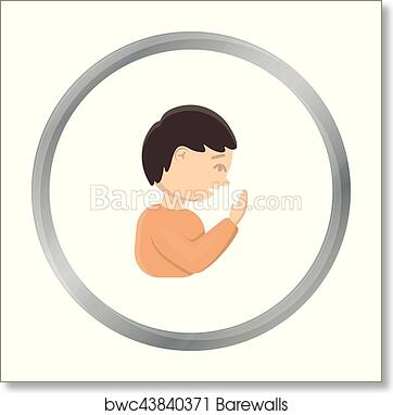 cough icon cartoon single sick icon from the big ill disease cartoon art print barewalls posters prints bwc43840371 cough icon cartoon single sick icon from the big ill disease cartoon