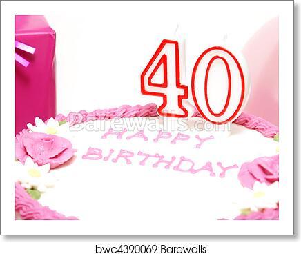 Happy 40th Birthday Art Print Barewalls Posters Prints Bwc4390069