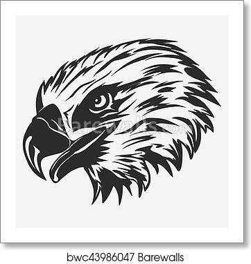 Eagle Head Logo Vector Art Print Barewalls Posters Prints Bwc43986047