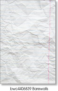 Lined Paper Art Print Poster