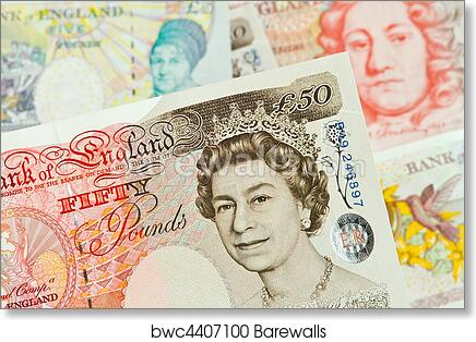 British Pound Notes Pounds Banknotes Of The Currency Art Print