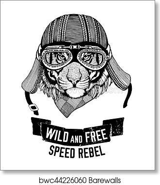 Wild Tiger Wild Cat Be Wild And Free T Shirt Emblem Template Biker