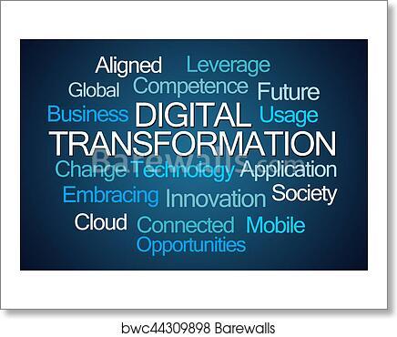 Art print of digital transformation word cloud barewalls posters art print of digital transformation word cloud reheart Choice Image
