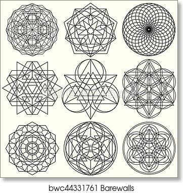 art print of sacred geometry symbols vector set 03 barewalls