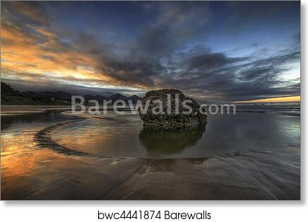Art Print Of Low Tide At Cannon Beach Oregon