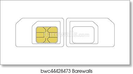 Art Print of Size SIM card template | Barewalls Posters & Prints ...