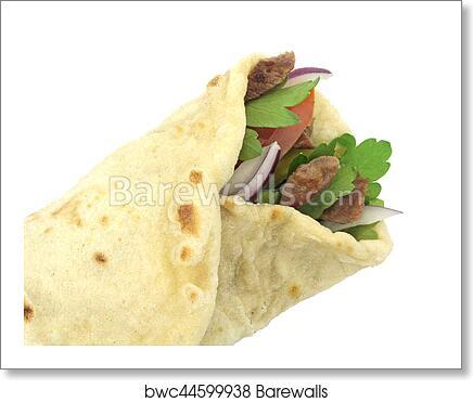 Traditional Turkish Wrap Roll Bread Durum Doner Kebab Art Print Barewalls Posters Prints Bwc44599938