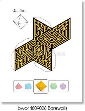 Art Print of Platonic Solid Octahedron Maze | Barewalls Posters ...