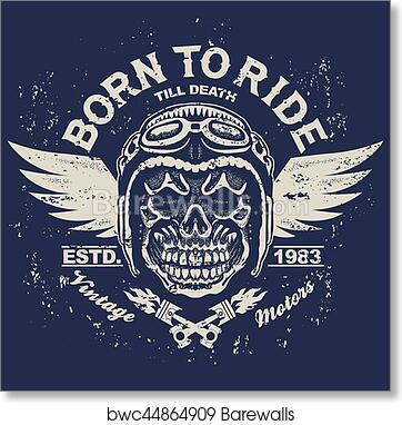 Motorcycle T Shirt Graphics Art Print Poster