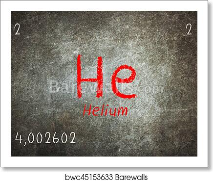 Art print of isolated blackboard with periodic table helium art print of isolated blackboard with periodic table helium urtaz Images