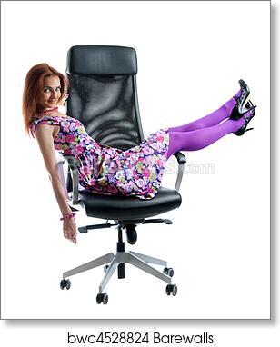 Fabulous Beautiful Girl On Black Easy Chair Art Print Poster Inzonedesignstudio Interior Chair Design Inzonedesignstudiocom