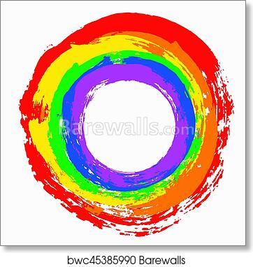 canvas  Print vintage advert  Kandinsky Art painting circles rainbow