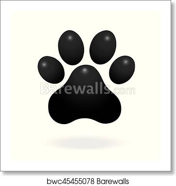 Art Print Of Dog Or Cat Paw Print Flat Icon For Animal Apps And
