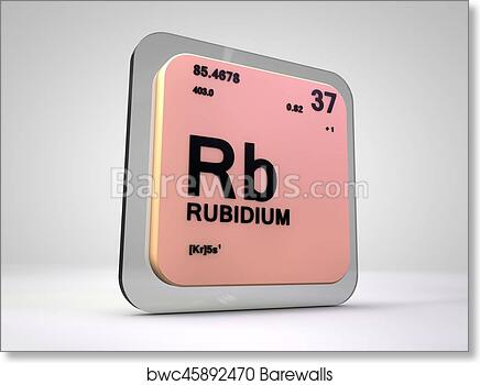 Art Print Of Rubidium Rb Chemical Element Periodic Table 3d