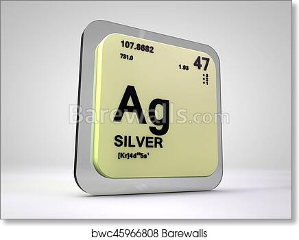 Art print of silver ag chemical element periodic table 3d render art print of silver ag chemical element periodic table 3d render urtaz Images