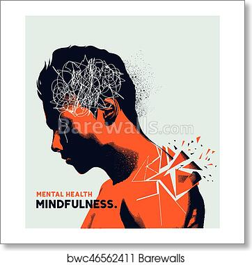Art Print Of Mental Health Issues