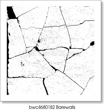 Alpha bump marble crack damage map for use in 3d software art print poster