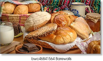 Home Décor Items Poster Print Wall Art Bakery Bread Landscape Modern Food & Drink Home Décor hanging decorations