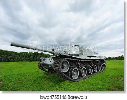 US Army World War II Tank art print poster