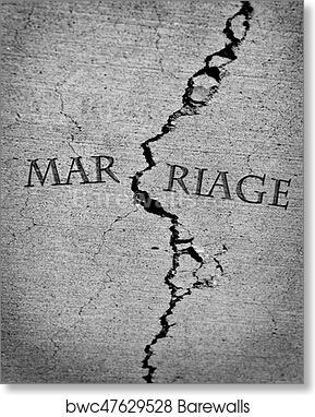 Broken Marriage Divorce Relationship Trust Cracked Crack art print poster