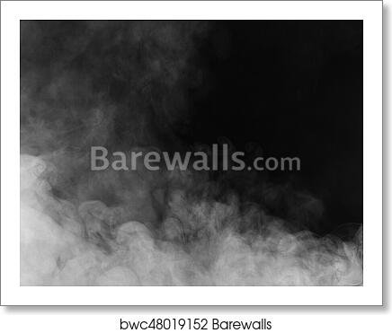 Beautiful Storm Cloud Isolated On Black Background Smoke From Cigarettes Vape Art Print Barewalls Posters Prints Bwc48019152