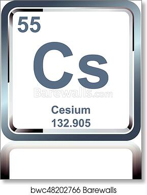 Art print of chemical element cesium from the periodic table art print of chemical element cesium from the periodic table barewalls posters prints bwc48202766 urtaz Gallery