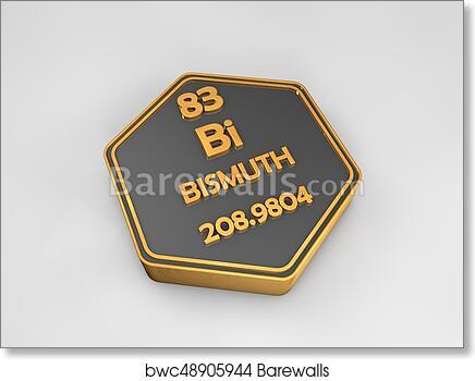 Art Print Of Bismuth Bi Chemical Element Periodic Table