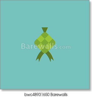 flat icon ketupat element vector illustration of flat icon malay isolated on clean background can be used as ketupat hari and raya symbols art print barewalls posters prints bwc48931650 barewalls