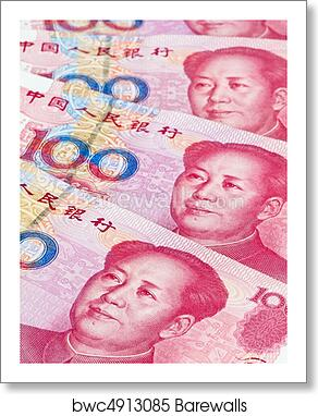 Art Print Of China Business Yuan Chinese Currency