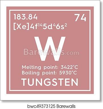 atomic symbol tungsten