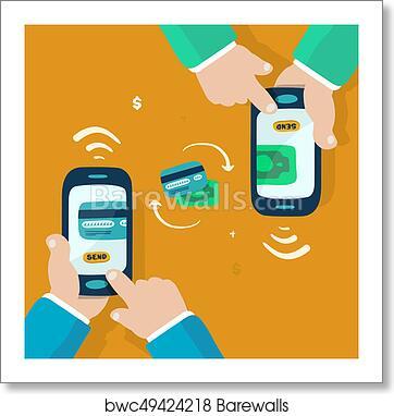 Wireless Money Transfer Art Print