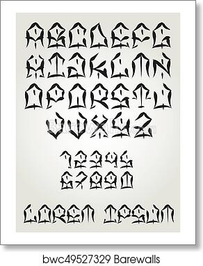 Art Print Of West Coast Graffiti Font