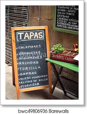 Art Print Of Tapas Bar Sign Barewalls Posters Prints Bwc49806936