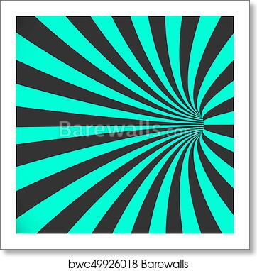 art print of vector 3d tunnel background spiral hole illusion