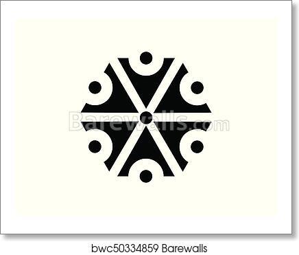 Art Print Of Symbol Of The God Perun Slavic Mythology The God Of