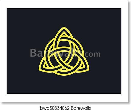 Art Print Of Triquetra Trinity Knot Celtic Symbol Of Eternity