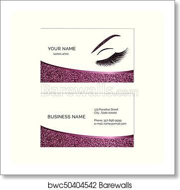 Makeup Artist Business Card Art Print