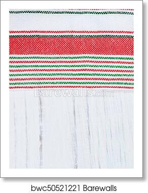 Art Print Of Traditional Tricolor Textile
