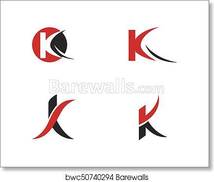art print of k letter logo template barewalls posters prints