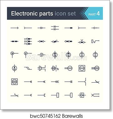 diagram symbols electric and electronic circuit diagram symbols set of electrical  electronic circuit diagram symbols