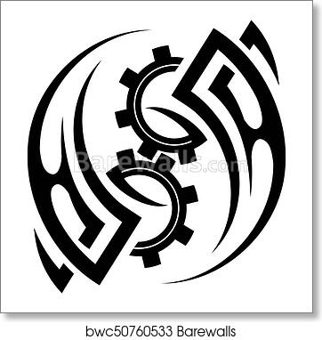 9381d1520 Tribal tattoo design, Art Print | Barewalls Posters & Prints ...