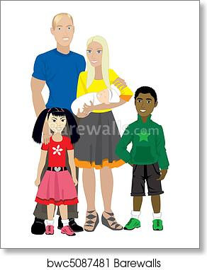 Art Print Of Family 7 Isolated Adopted