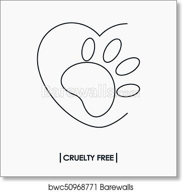 Art Print Of Animal Cruelty Free Logo Barewalls Posters Prints