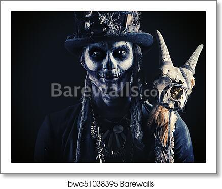 Skull Makeup Male Art Print Barewalls Posters Prints Bwc51038395